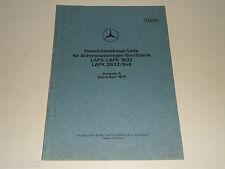 Umschlüsselungs-liste Ersatzteile-Nummern Mercedes Benz Coche Vueltas Lapk 1632