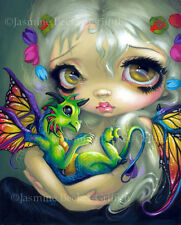 Jasmine Becket-Griffith art print SIGNED Darling Dragonling IV fairy big eye pop