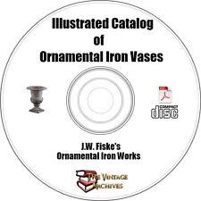 Illustrated Catalog of Ornamental Iron Vases eBook on CD - Ornamental Iron Works