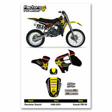 1995-2001 SUZUKI RM 80 Team RS Motocross Graphics Dirt bike Graphics kit
