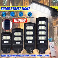 200/400/800/1000W Lampione LED Pannello Solare Luce Stradale Sensore Lampada ~
