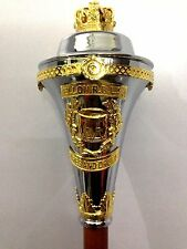 """Custom Mace with any Name in Upper & Lower Scrolls. (60""""). Free soft carry case."""