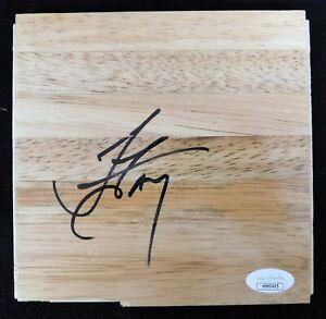 Jordan Farmar Los Angeles Lakers Signed 6x6 Floorboard JSA Authenticated