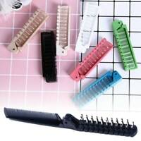 Portable Pro Folding Hair Brush Travel Anti-Static Hair Brush Hairdressing Comb
