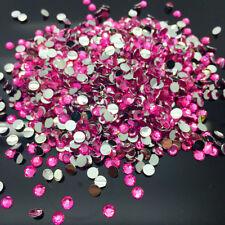 8mm 200pcs Rose Facets Resin Rhinestone Gems Flat Back Crystal Beads