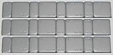 UK SPEDIZIONE GRATUITA 2 strisce TASTINI Alimentatore Senza Piombo Autoadesivo 16 pesi in totale