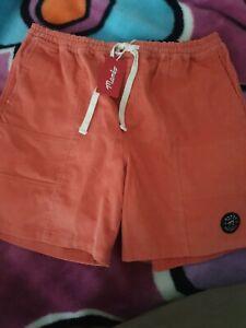 Mens Mambo Cord Shorts Size XL Orange