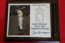Joe DiMaggio Autographed Plaque Batting Pose HOF NY Yankees - Scoreboard COA