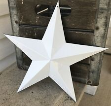 "White Enamelware 12"" Metal Barn Star, French Farmhouse Wall Decor"