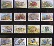 BARBADOS #640-659: VF MNH Comp. Set of 16 - Marine Life