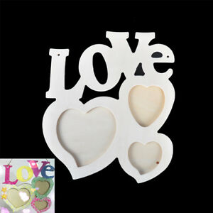 Lovely Wooden Hollow Love Photo Picture Frame Home Decor Art DIY Craft. ZJA