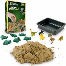 Ultimate Dinosaur 2lbs Play Sand 6 Molds Figures Activity Tray Kinetic Nat Geo