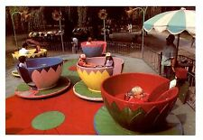 Teacups Ride Postcard Catskill Game Farm New York Children's Playground Rides