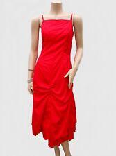 Robe CACHE CACHE T 36 S 1 au Mollet Rouge Bouillonné Volant Fête Tunic Dress été