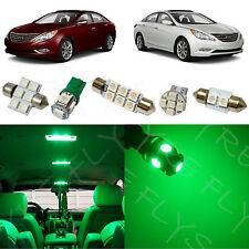 9x Green LED lights interior package kit for 2011 & Up Hyundai Sonata YS3G