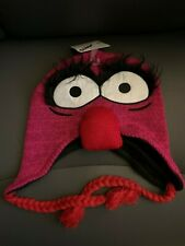 New with Tags NWT Muppets Animal Peruvian Beanie Laplander Hat