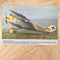1917 German Pfalz D III Airplane Vintage Postcard WWII Chrome Collectors Series