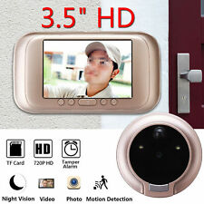 "3.5"" Digital Peephole Viewer Door Eye Doorbell Video Camera Motion Detector"