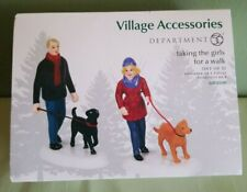 New ListingDept 56 Taking The Girls For A Walk 6001690 Village Accessory 2018 Set of 2 Nib