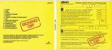 CD DIGIPACK 13 TITRES UB40 SIGNING OFF DE 2013 TBE