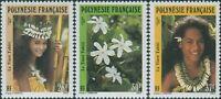 French Polynesia 1990 SG602-604 Tiare Flower set MNH
