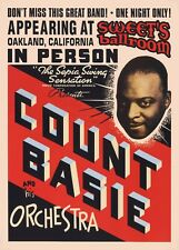 More details for count basie concert promo poster - live oakland california usa a2 size