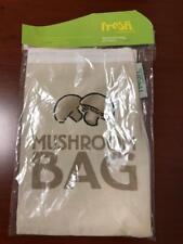 NEW Fresh Mushroom Bag Cloth Vegetables Prep Zipper Storage Drawstring Top