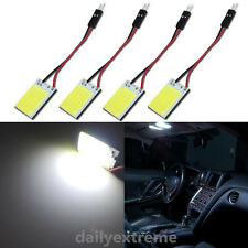 4pcs HID White 36-Chips COB LED Panel For Car Interior Map/Dome/Door/Trunk Light
