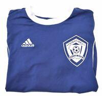 ADIDAS Boys T-Shirt Top 11-12 Years Blue Polyester  JQ11