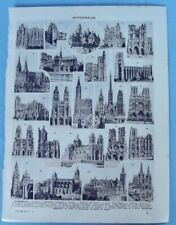 1929 Old Printing press Cathedrals Paris Notre-Dame picture number 7 seville