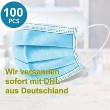 100stk Einwegmaske Mundschutz Atemschutz 3-Lagig Einwegmasken Einweg Maske