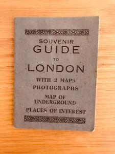 Vintage Souvenir Guide To London 1930s - London Underground Map + Photos
