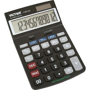 Calculator, Victor 1180-3A Standard Function - 1 Each