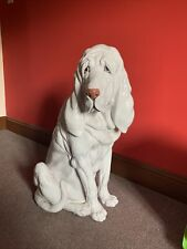 More details for large painted terracotta blood hound dog rare