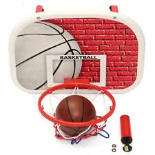 Toy Mini Basketball Hoop System Kids Goal Over The Door Indoor Sports with Ball
