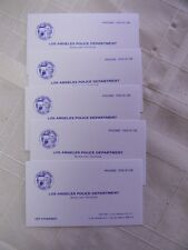 """LOT OF 5 LAPD BURGLARY DIVISION PEP STREEBEK BUSINESS CARDS FROM """"DRAGNET""""!"""