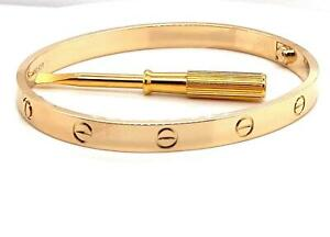 Genuine Cartier Love Bracelet 18k Yell Gold Size 19 Ref B6035517 2020 Box Papers