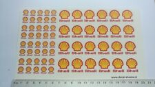 Shell 1+2 cm water transfer decals aufkleber set