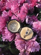 Art Deco 18ct Platinum Sapphire And Diamond 2 Stone Ring.