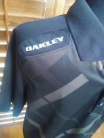 Mens Oakley Ohydrolix Short Sleeve Black Polo Shirt Size Small Sports Shirt