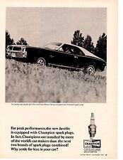 1968 AMC JAVELIN SST ~ ORIGINAL CHAMPION AD