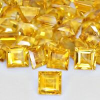 Wholesale Lot of 8mm Square Cut AAA Natural Citrine Loose Calibrated Gems Brazil