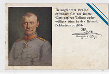 I 206 - WWI, Generalfeldmarschall Karl von Bülow, Feldpost 1916