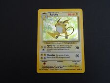 RAICHU POKEMON CARD 14/102 HOLO SHINY BASE SET V RARE 1999