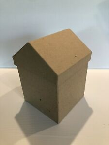Paper Mache Unfinished House Box