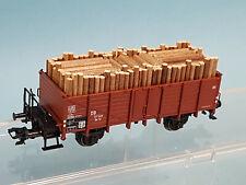 Märklin aus 26578 Güterwagen Om12 DB Ep.III + KKK + Ladung Holz /TOP
