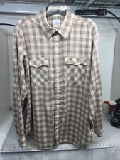 Levi's Men's Brown 1980 Olympic Lake  Placid Moscow Plaid Button Shirt XL