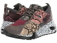 Women's Shoes Steve Madden CLIFF Fashion Chunky Wedge Sneakers PINK MULTI SNAKE