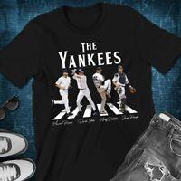 New York NY Yankees Baseball Players Crossing Abbey Road Funny Fans T-Shirt