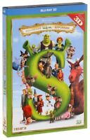 NEW 5 Blu-ray 3D Box Set Shrek 3D: The Complete Collection Whole Story + Bonus